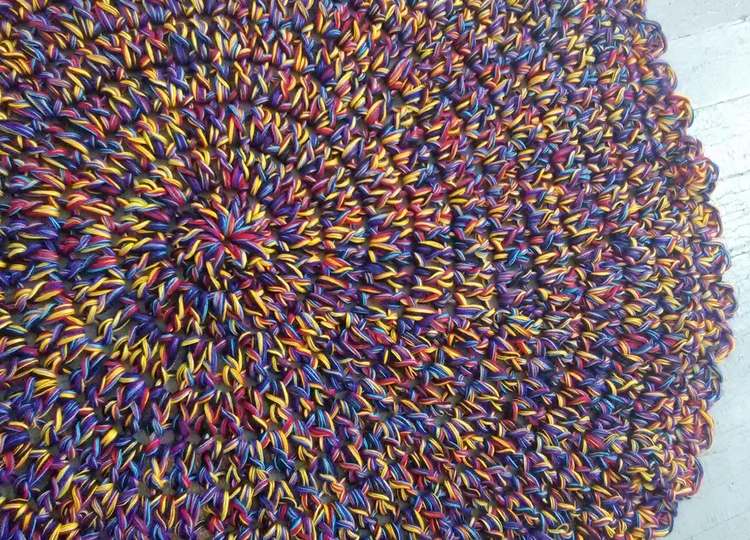 Handmade Crochet Rug Table Topp - maryherrigfiberarts   ello