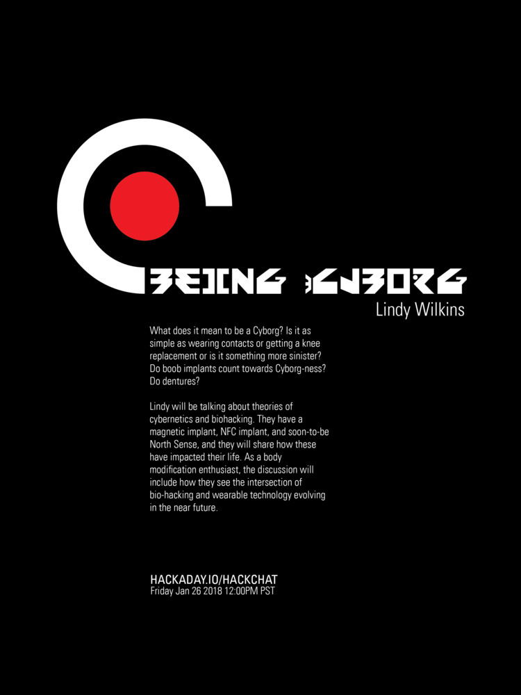 Cyborg HackChat - poster, design - randomwalks | ello