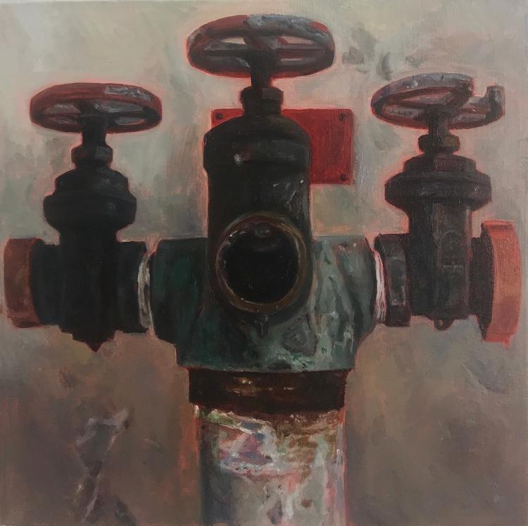 Untitled oil panel 6x6' 2017 - heydidijan2018 - jodi1234 | ello