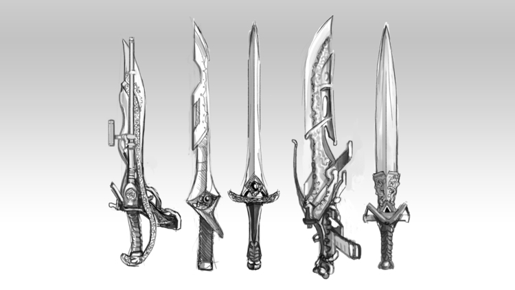 Hey sharing concept art weapons - hanje | ello