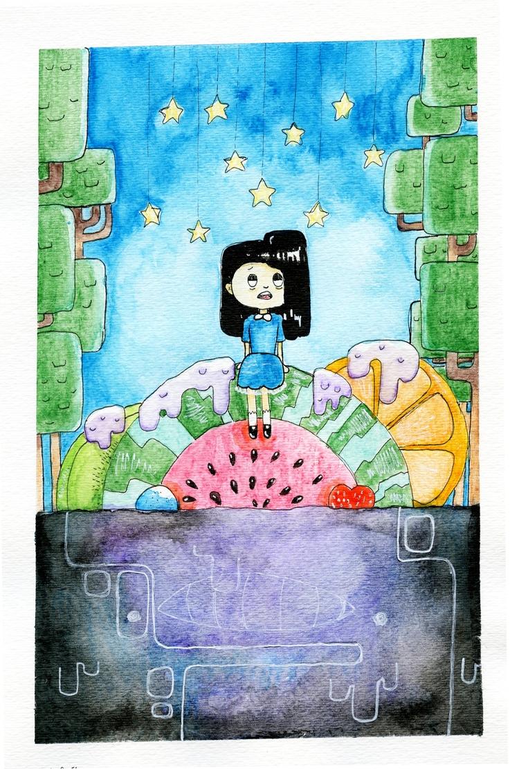 watercolor, food, wonderland - chiapet-irl | ello