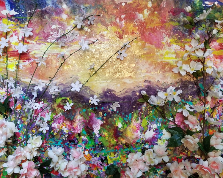 Summer Bloom 30x24in acrylic, g - kpfineart | ello