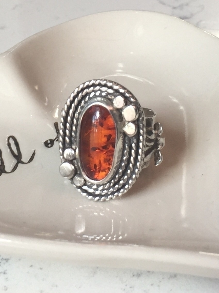 Baltic Amber Lotus Ring - balticamber - bellabychrista | ello