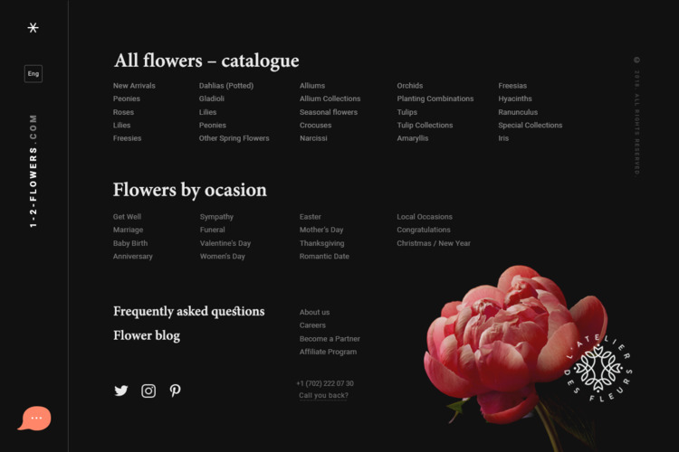 Menu screen flower shop - podstrigich | ello