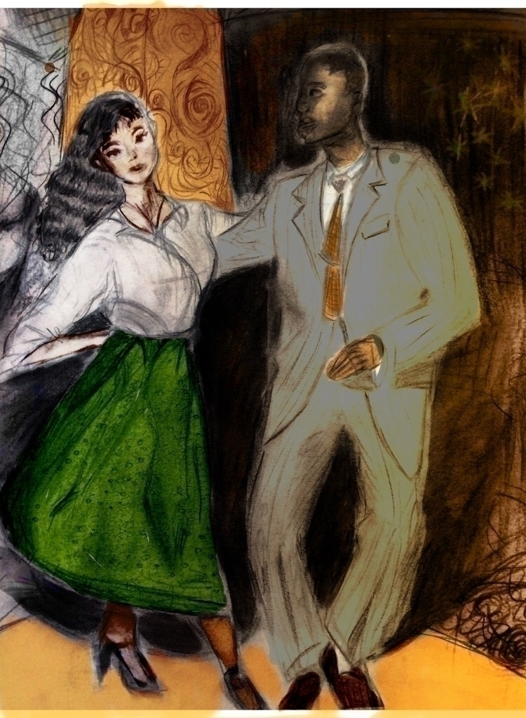 """Swing Time"", 11 14 watercolor  - alejandramadrigalavina | ello"