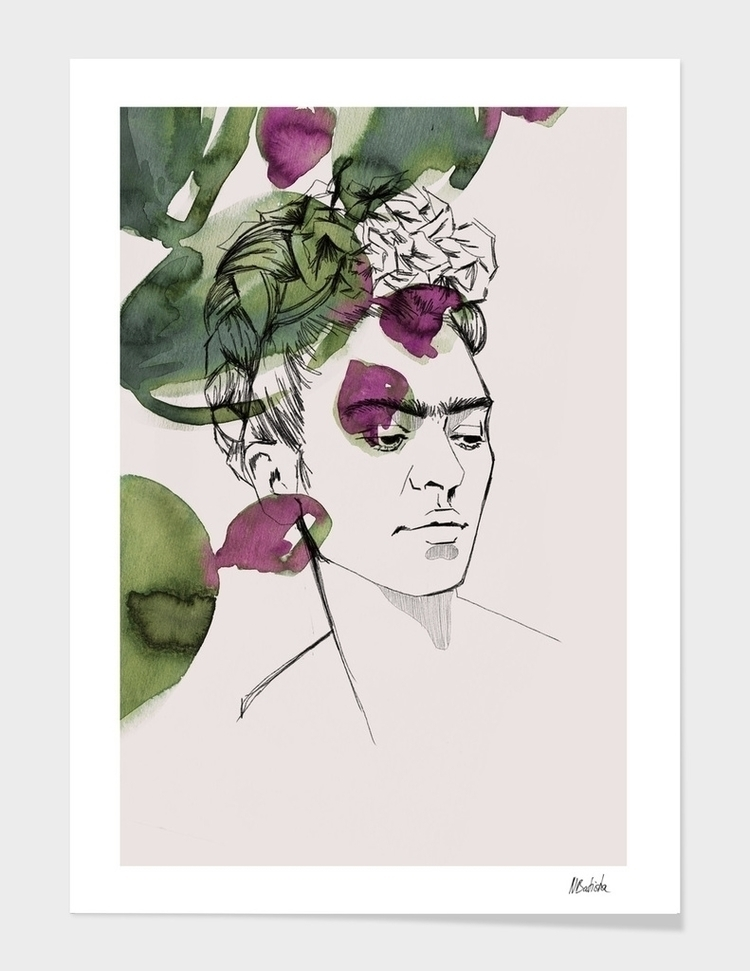 FRIDA Mixed media portrait famo - nadinebatista | ello
