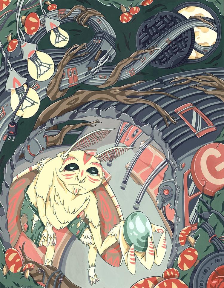 Gift, gouache watercolor paper - sagecotignola | ello