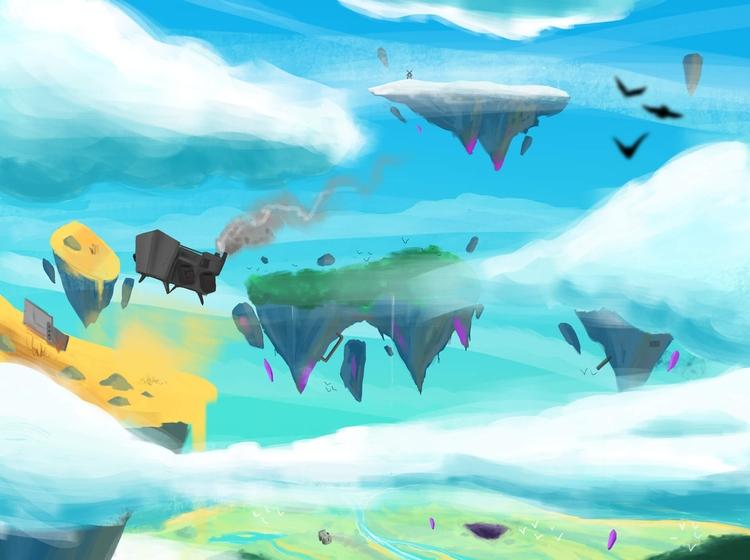 Devblog floating islands, RoboD - floatlands | ello