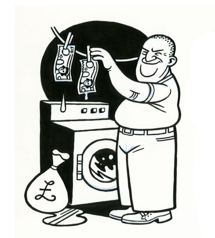 Money Launderer, illo Guardian - dannyhellman | ello