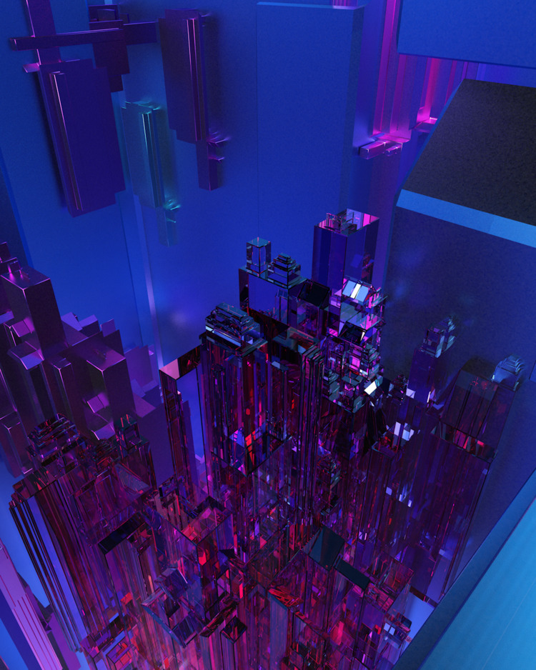 city - c4d, cinema4d, 3d - datadymon | ello