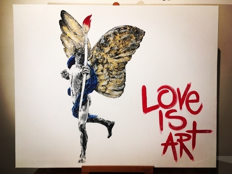 Anteros' message Acrylic canvas - boemo | ello