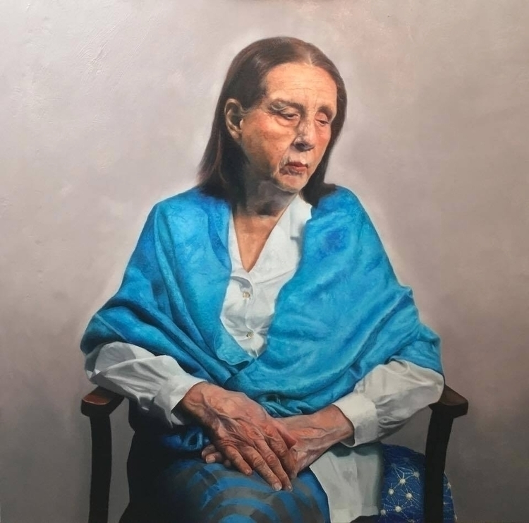 Patience: Portrait Mother, Oil  - carlosgallostra | ello