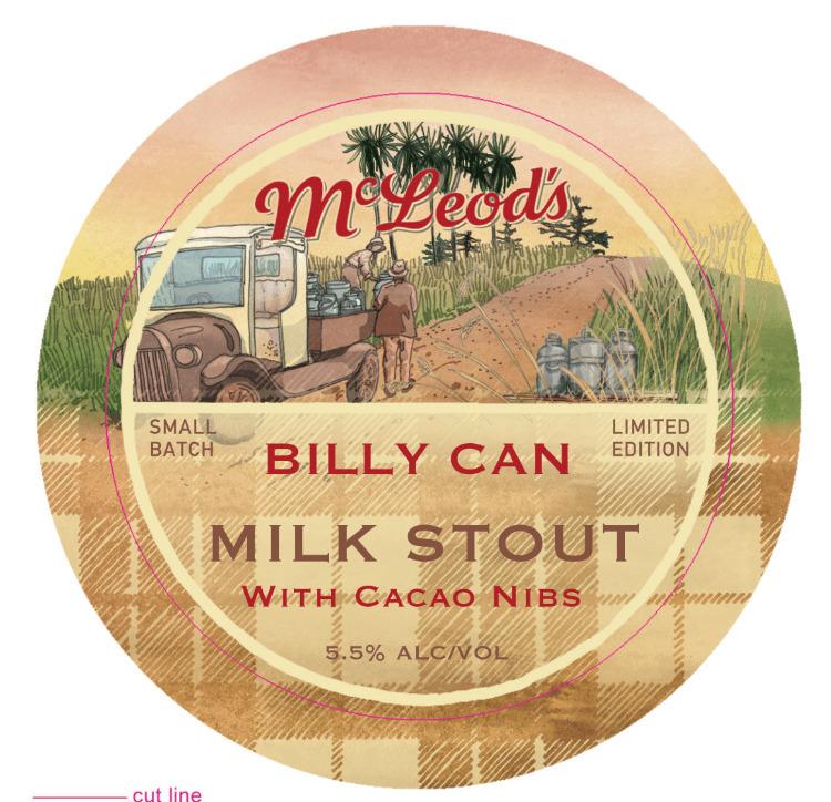 Billy Milk Stout beer tap decal - sarahlarnach | ello