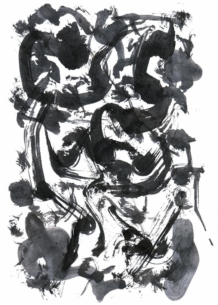 Black Ink 1. 2016 - art, abstract - eliseolarte | ello