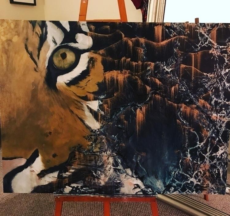 Tiger Dreams - oilpainting, eyeseeyou - pattyros17 | ello