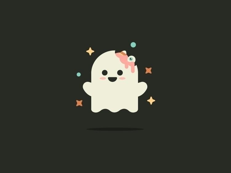 cute, illustration, ghost, art - jordkane | ello