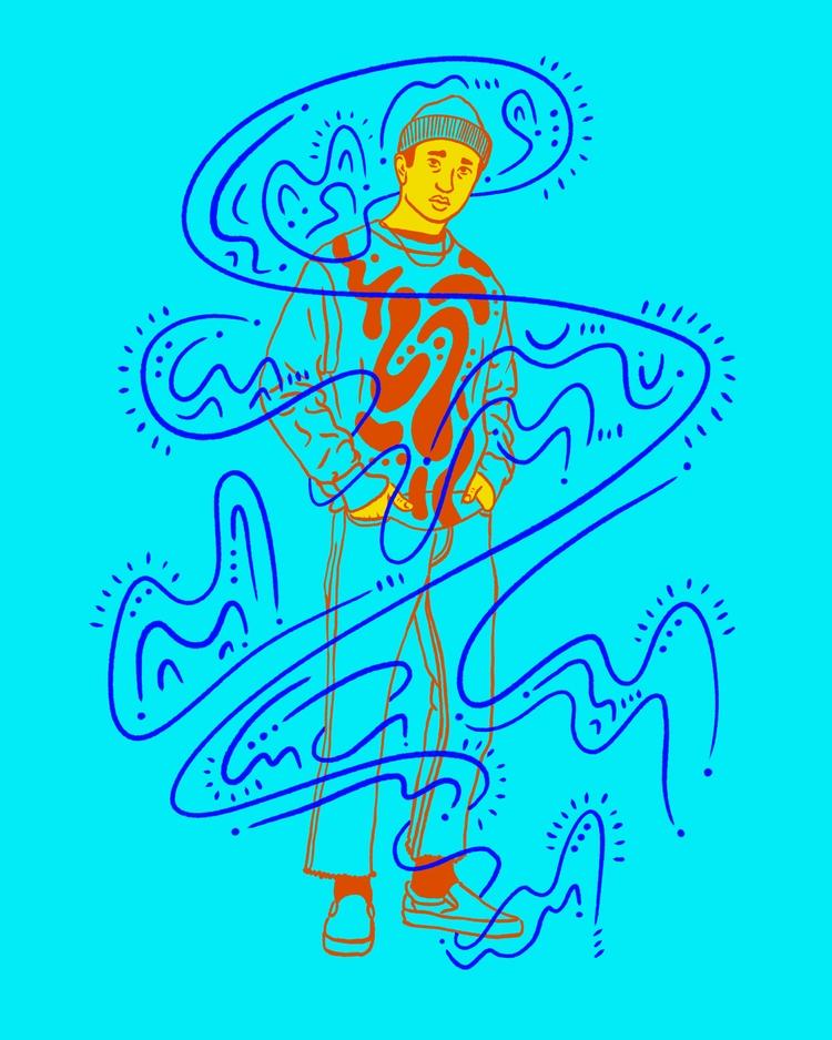 Blue power - illustration, illustrator - heybop   ello