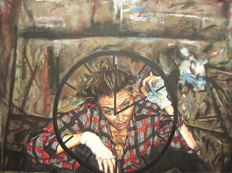 Gift Time painting acrylic canv - sophieb33 | ello