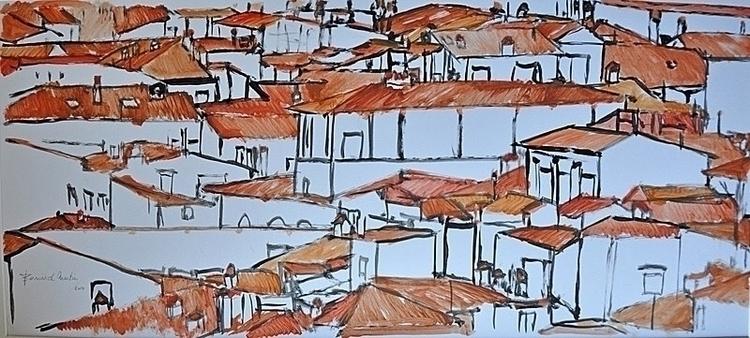 Roofs Florence1 Acrylic paper  - ben-peeters   ello