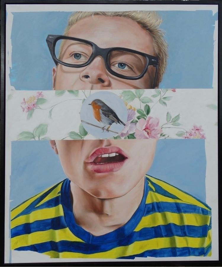 "Banded Birds. 50""x60"". Oil canv - gregellisartist | ello"