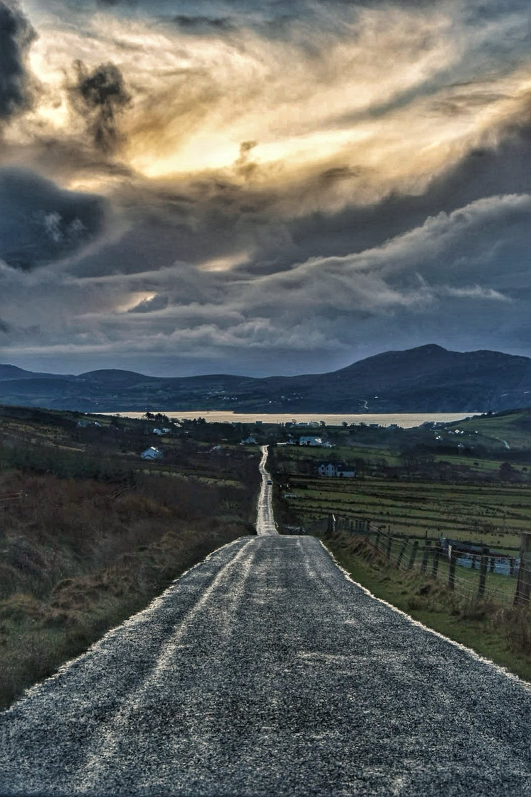 Road Dunree - roads, sunsets, nikon - c_wal   ello