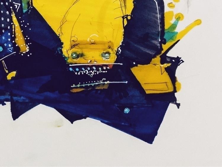 Ink paper - abstractexpressionism - jcraywtf   ello