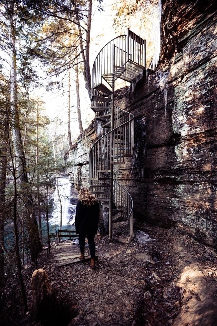 put spiral stair case woods - treywalker | ello
