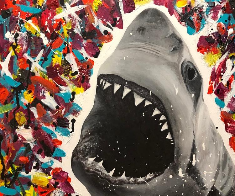 Shark Attack 20' 24' Acrylic Ca - estaceycadorna | ello