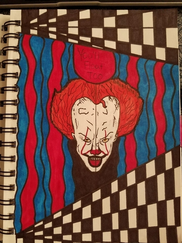 Throwback inktober 🤡:balloon - pennywise - wampiree | ello
