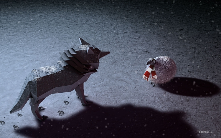 talkin' meee - 3D, humour, wolf - grafismo | ello