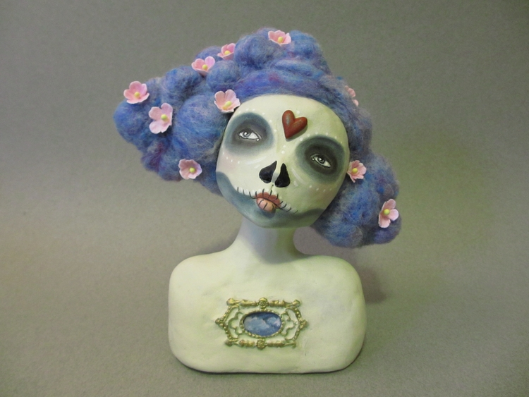 Mixed Media Day Dead art doll F - amberleilani | ello
