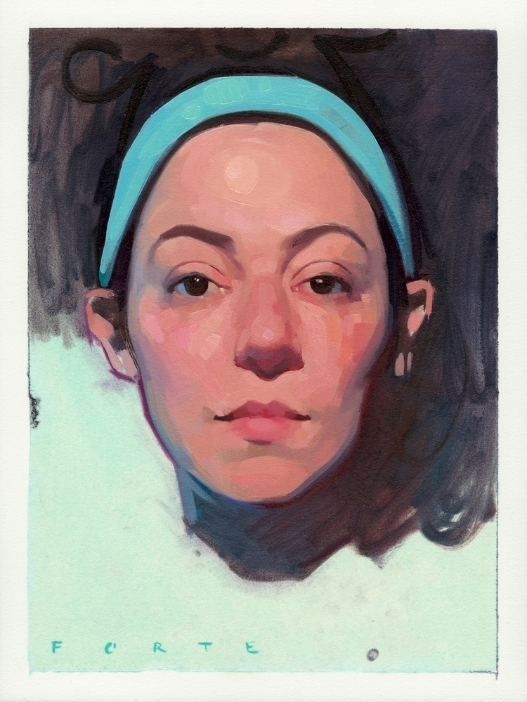 Portrait 2017, oil paper, 12x16 - feliciaforte | ello