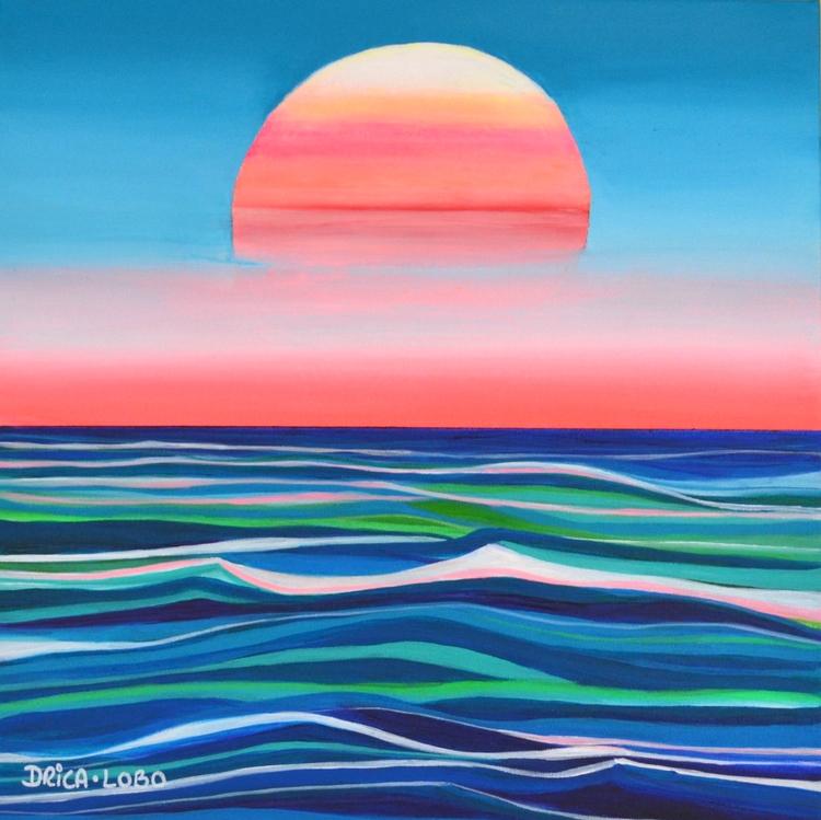 Falling Summer acrylic Canvas S - dricaloboart | ello