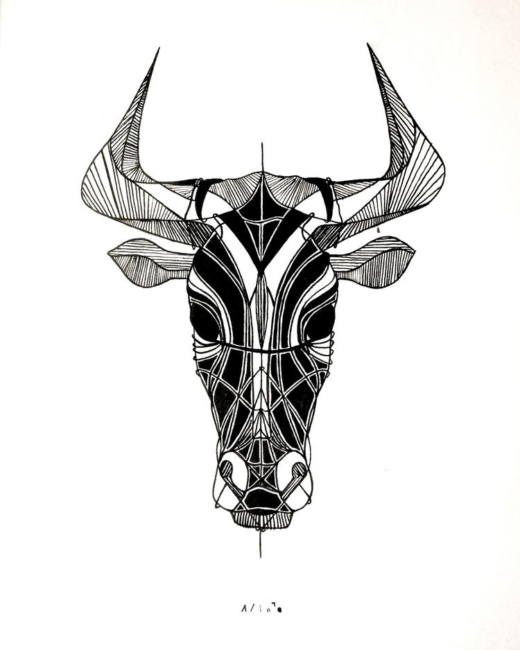 taurus, bull, touro, sign, signo - amandaobara | ello