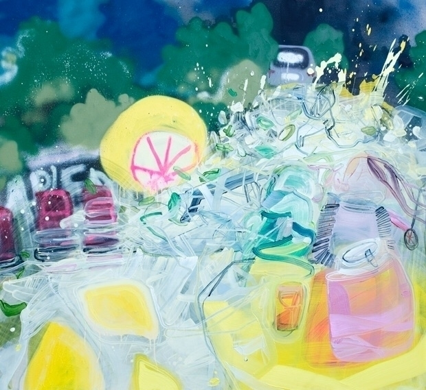 """Charity Lemonade Stand"", oil,  - danaoldfather 