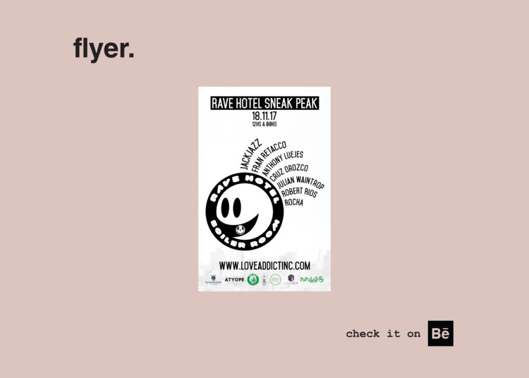 flyer. electronic music event p - rocha_rma | ello