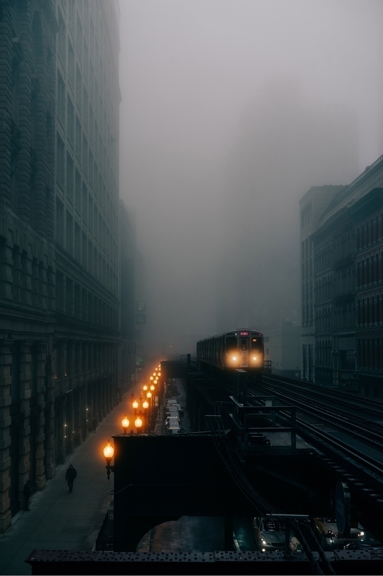 Chicago, fog, train, city, ello - ksears_ | ello