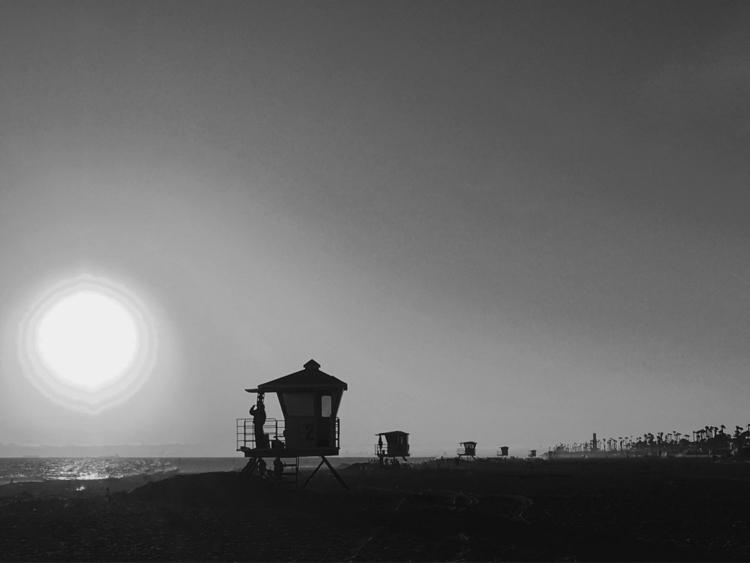 ... sunset HB - blackandwhite, ellophotography - j-stu | ello