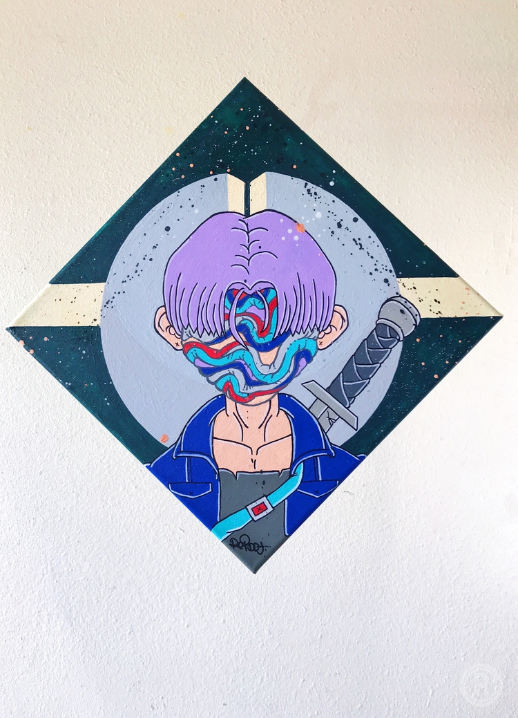 Time Traveler Acrylic paint aer - reibot   ello