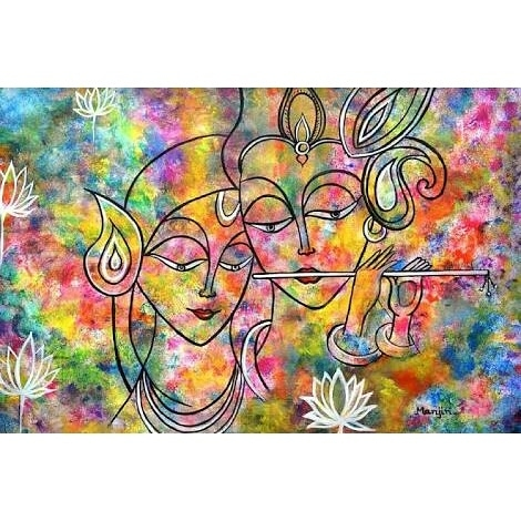 Radha Krishna Submitted Art Lov - artbymanjiri | ello