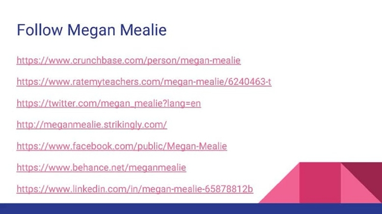 Follow Megan Mealie - meganmealie | ello