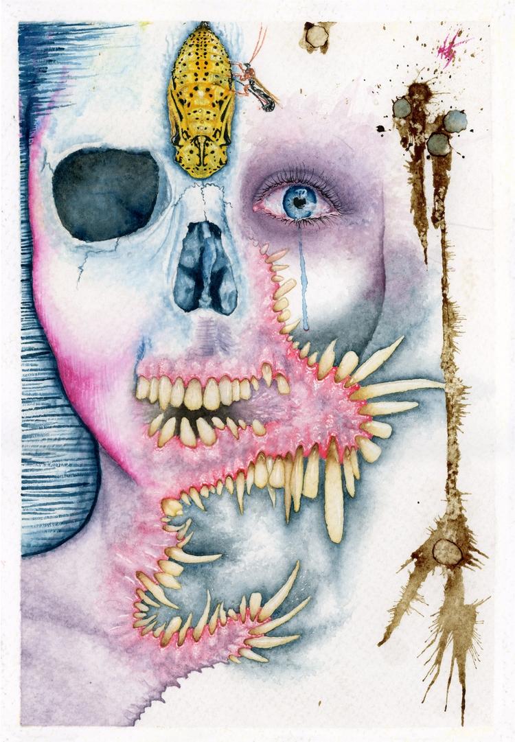 Thanatomorphosis watercolors, b - theartofasty | ello