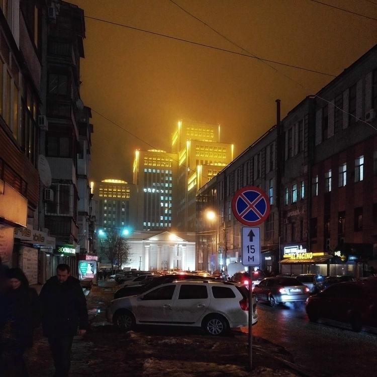 Winter Evening Dnipro City - rsln | ello