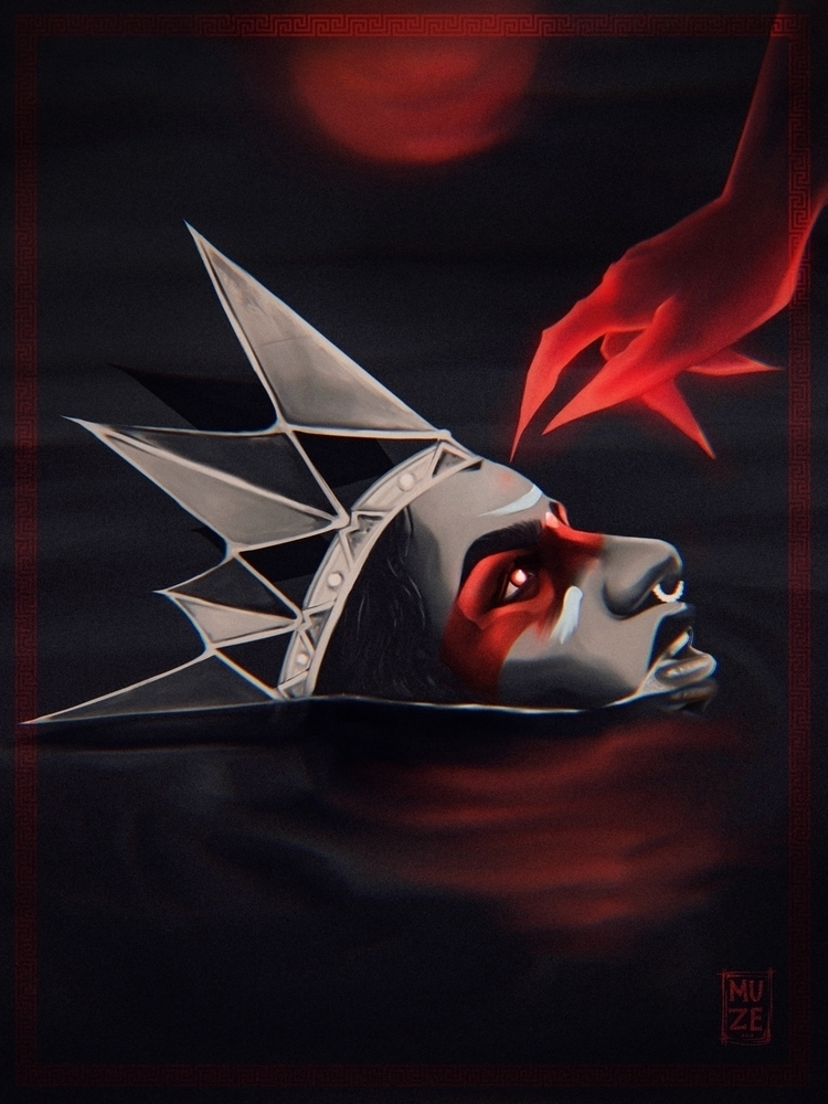 BLOOD MOON - Digital Painting.  - kingmuze | ello