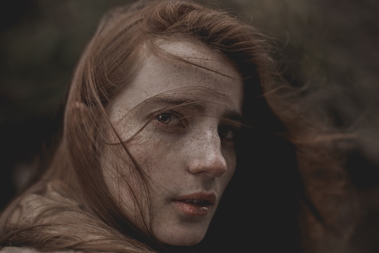 Windswept Model: IG - portrait, freckles - ragib | ello