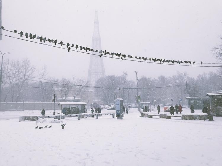 Шуховская башня и снегопад, Мос - ermokhin | ello