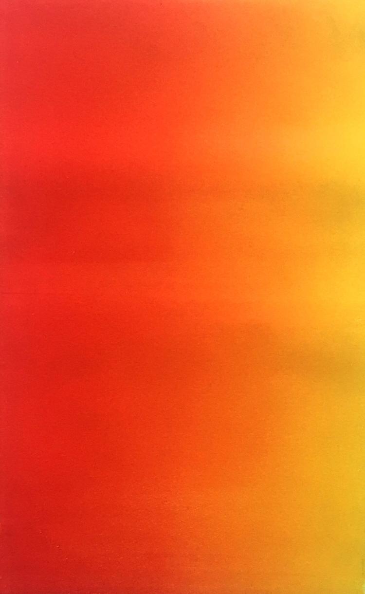 Magenta yellow fade monoprint S - aulku | ello