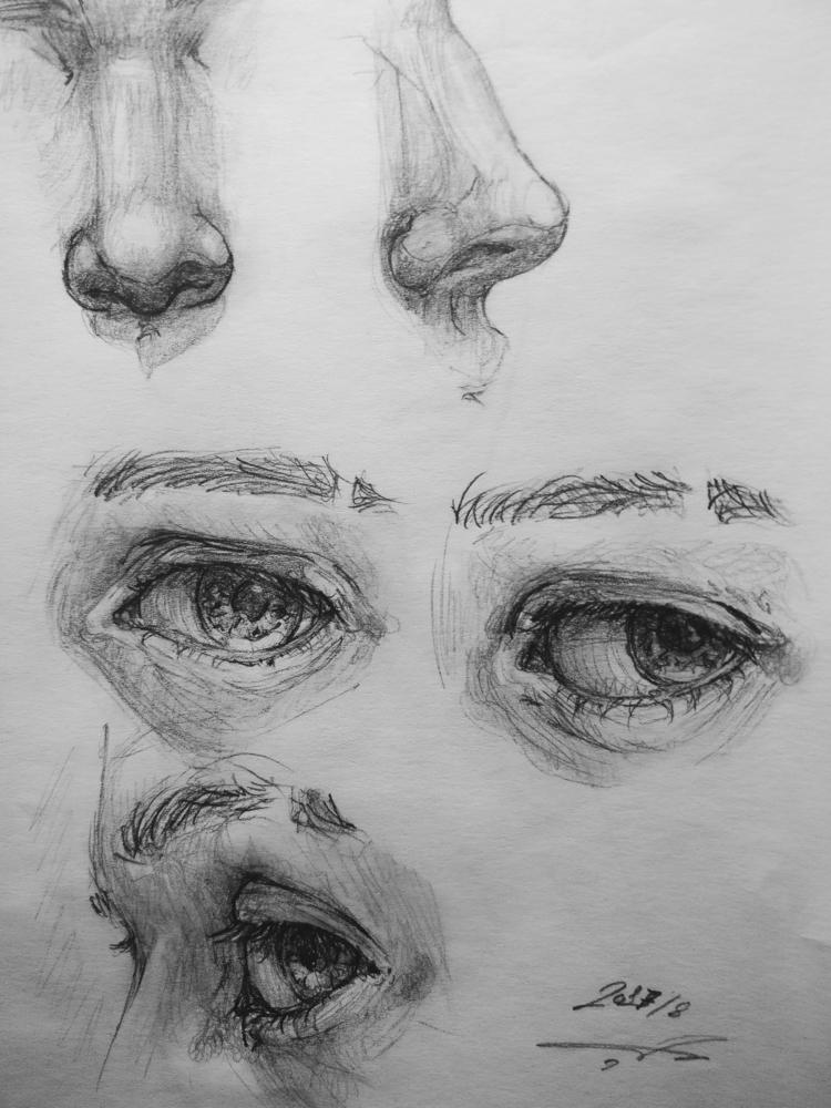 Sketch study anatomy eye - artstudio - jm_munoz | ello