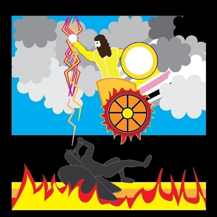 illustration, illustratorart - pegasus_lightning | ello