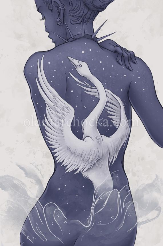 Wild Swan - bird, swan, tattoo, nude - aleksandracupcake | ello